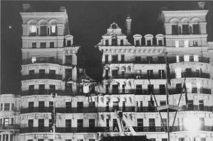 Grand Hotel de Brighton después del atentado del IRA